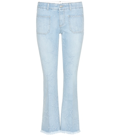 Distressed Star Flared Jeans