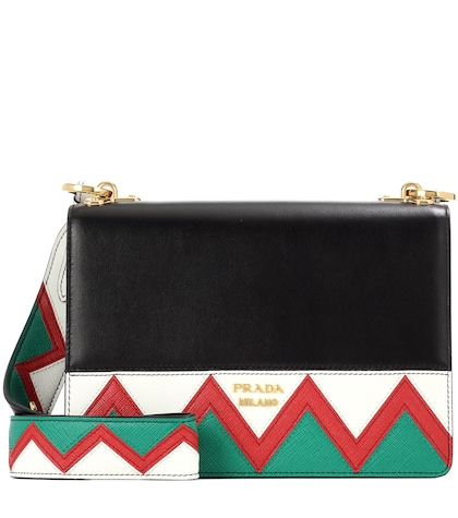 prada female leather shoulder bag