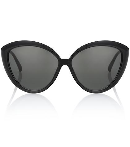 linda farrow female cateye sunglasses