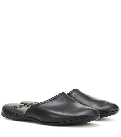 Hebe leather slippers
