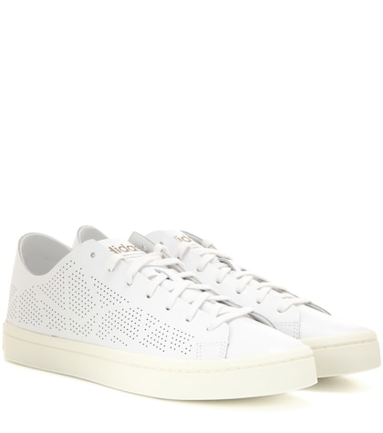 adidas originals female 45883 court vantage tf perforated leather sneakers