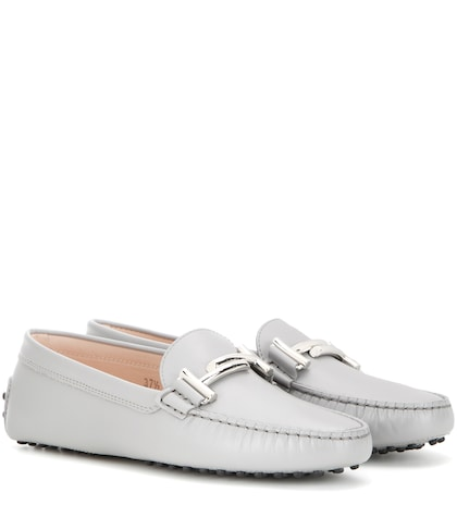 Gommino Double T embellished leather loafers