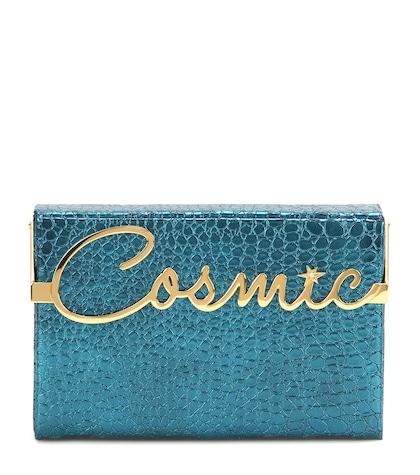 Cosmic Vanina Metallic Embossed Leather Clutch