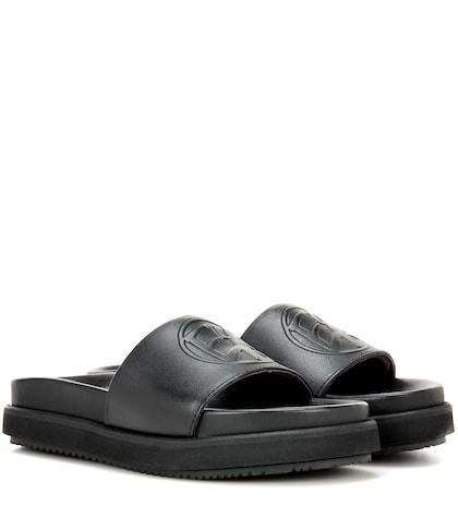 Hacienda leather slip-on sandals