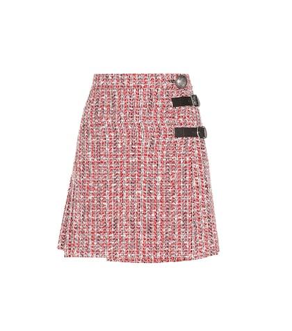 Embellished tweed skirt