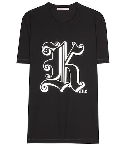 christopher kane female gothic k cotton tshirt