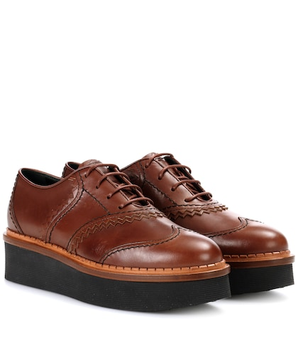 Platform leather Oxford shoes