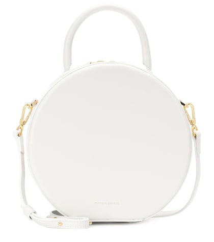 Circle leather crossbody bag