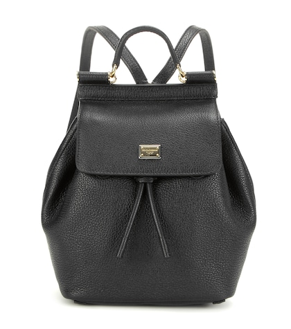 dolce gabbana female sicily leather backpack