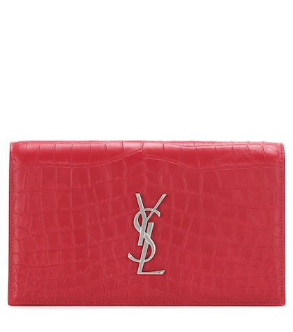Classic Monogramme Embossed Leather Clutch