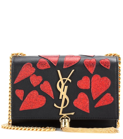 saint laurent female classic small kate monogram embellished leather shoulder bag