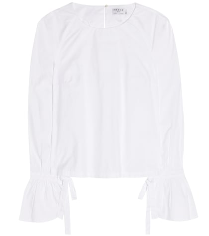 frame female voluminous cuff cotton blouse