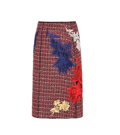 marc jacobs female embellished tweed skirt