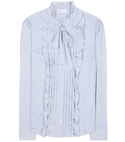 Ruffled Cotton-blend Blouse