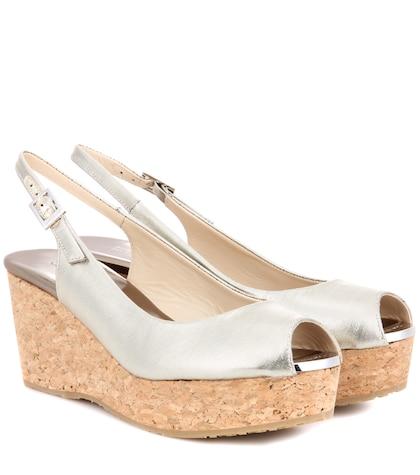 Praise metallic wedge sandals