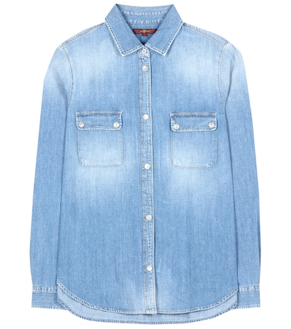 Uniform denim shirt