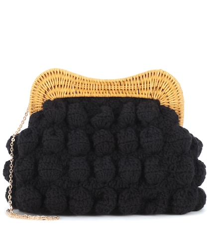 Hurricane crochet clutch