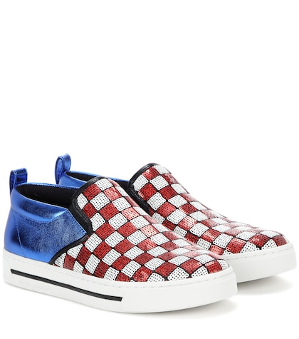 marc jacobs female embellished slipon sneakers