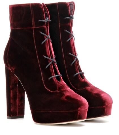 Deon 120 Velvet Ankle Boots