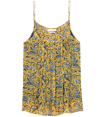 Bronson printed silk camisole