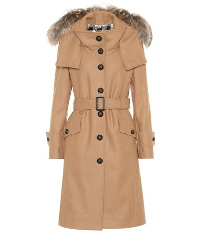 Claybrooke wool-blend coat