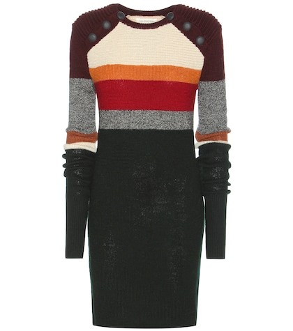 Duffy Striped Wool Sweater Dress