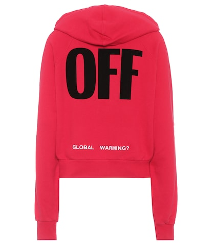 Off Big zipped cotton hoodie