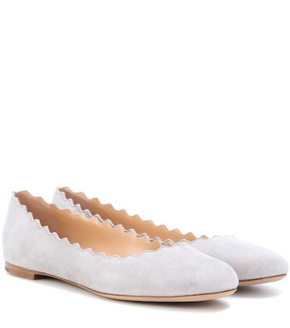 Lauren suede ballerina shoes