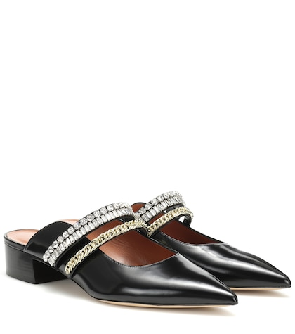 Carly embellished leather mules