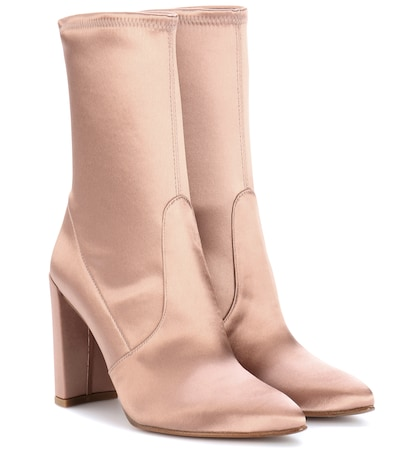 stuart weitzman female clinger satin boots