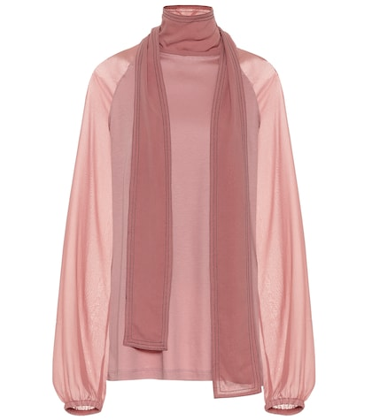 Tender Flow cotton and silk top