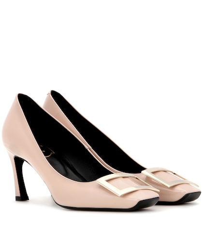 roger vivier female decollete belle vivier leather pumps