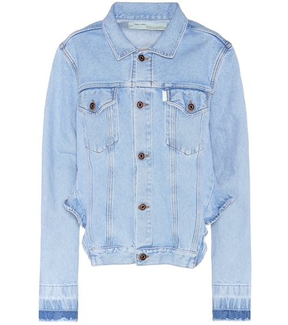 Back Ruffle denim jacket