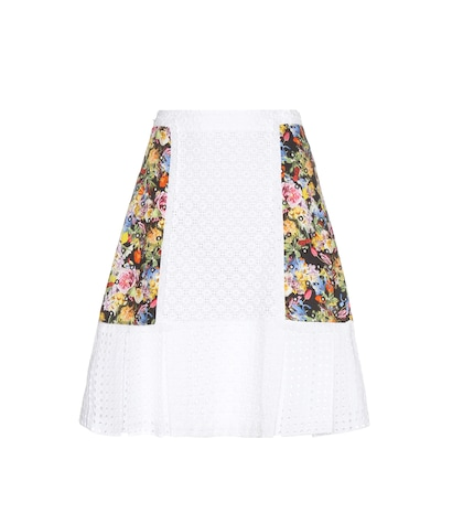 Cotton broderie anglaise skirt