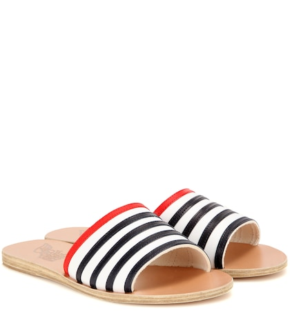 Taygete Stripes leather sandals