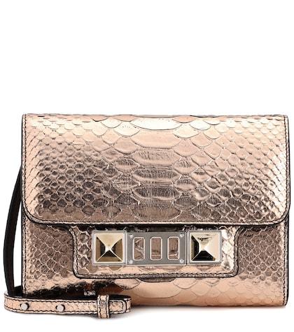 PS11 Wallet metallic leather clutch