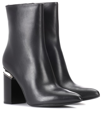 alexander wang female leather ankle boots