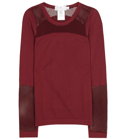 adidas by stella mccartney female mesh top