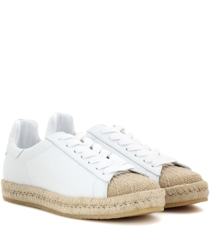alexander wang female rian leather espadrille sneakers