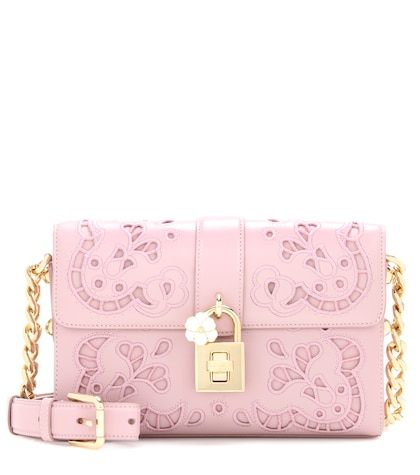dolce gabbana female embroidered dolce leather crossbody bag