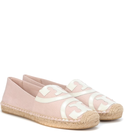 Poppy leather-trimmed espadrille