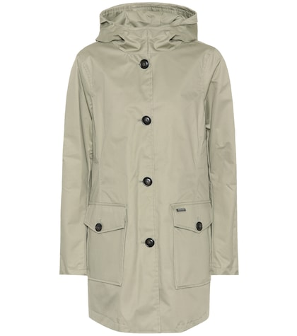 Hooded long cotton jacket