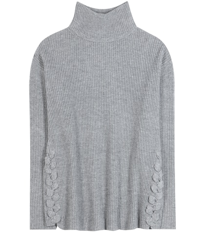 Virgin Wool And Cashmere Turtleneck Sweater