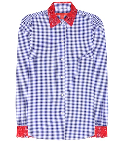 tommy hilfiger female lacetrimmed cotton shirt