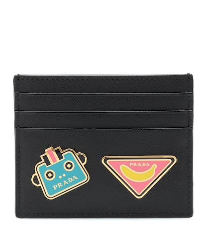 Embellished leather card holder