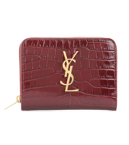saint laurent female monogram compact leather wallet