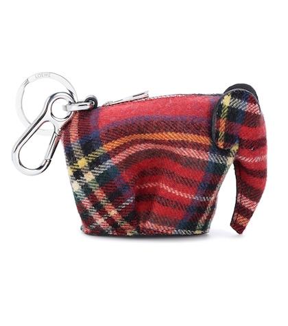 Elephant tweed coin purse