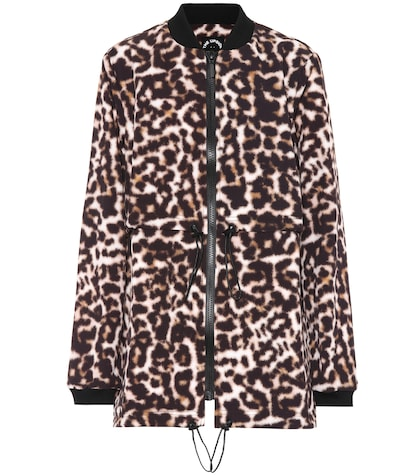 Leopard-printed jacket