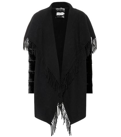 Wool and velvet jacket