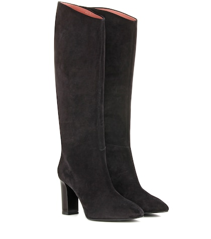 acne studios female aly suede kneehigh boots